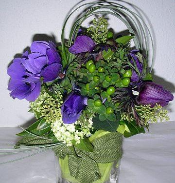 Anemones, Viburnum and Hypericum